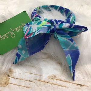 Lily Pulitzer fabric wrapped bracelet NWT